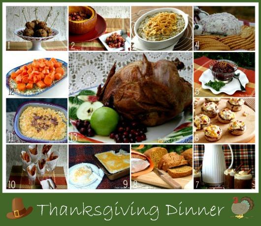 Thanksgiving menu recipes traditional