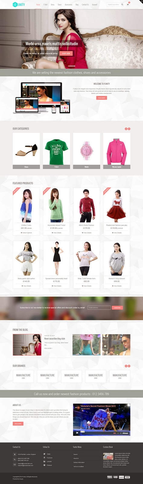 eCommerce Website Theme free