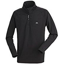 Nordcap Herrenfunktionsshirt, schnelltrocknendes Langarm-Shirt in Schwarz, für Sport & Outdoor-Aktivitäten, Herren-Thermoshirt (Größe: M - 3XL)