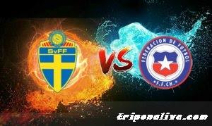 بث مباشر لمباراة تشيلي vs السويد  مباراة ودية