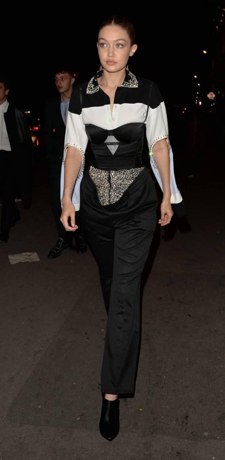 American Model Gigi Hadid at Paris Fashion Week