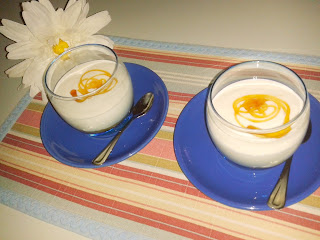Crema fresca de queso y membrillo