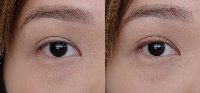 before and after photo of CLIO Gelpresso Waterproof Pencil Gel Liner review by Nikki Tiu www.askmewhats.com