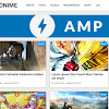 Purple AMP HTML Redesign V2 Template Blogger