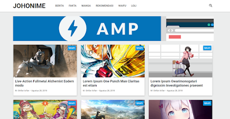 Purple AMP HTML Redesign V2 Template Blogger