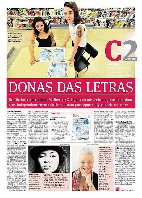 Revista Trino lança 2ª edição com foco na relação  entre mulher e literatura