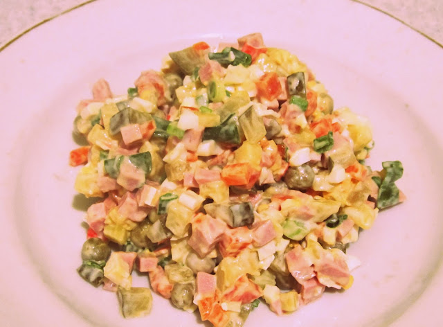russian potato Olivier salad, how to cook