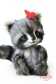 Artist raccoon, racoon, Waschbär, енот, Коллекционные мишки тедди, авторские тедди, авторские игрушки, тедди, коллекция мишек тедди,друзья мишек тедди, NatalKa Creaions, artist teddy bears, ooak teddies, collectable teddies, stuffed toys, Künstlerteddys, teddies with charm, Teddybären, Teddy kaufen, teddy bears buy, Summer Loving Collection, Влюбленные в лето