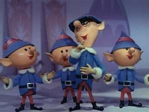 The elves laughing in Rudolph the Red-Nosed Reindeer 1964 animatedfilmreviews.filminspector.com