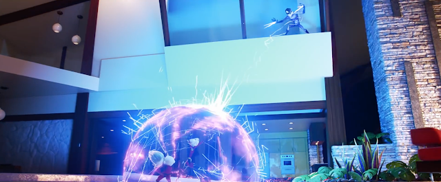 Incredibles 2 He-Lectrix attacks Violet and Dash