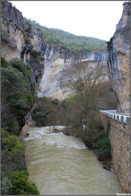 El Río Escabas entrando en la Hoz De Priego