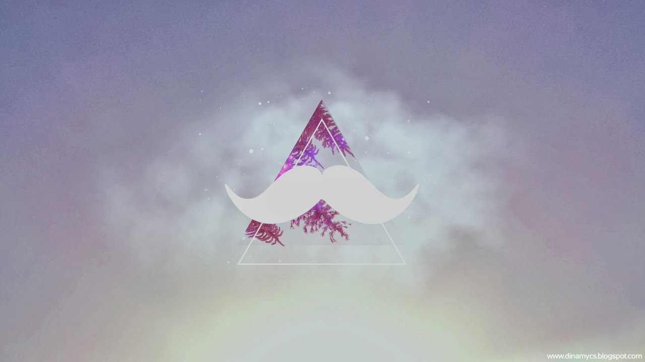 Moustache Wallpaper Hd Hipster Triangles