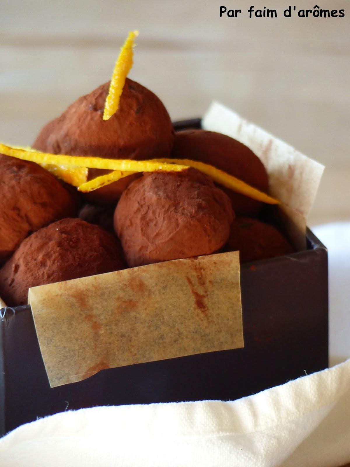 Truffes chocolat orange