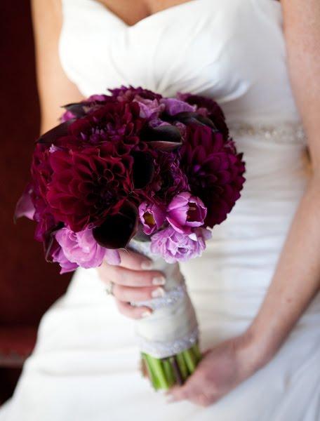 wedding flowers purple and red wedding flowers
