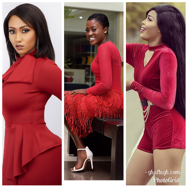 Photos: 12 Ghanaian Female Celebrities Who Have Slayed In Red So Far