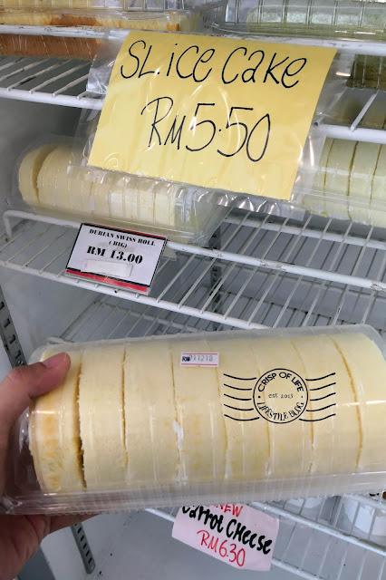 Durian Swiss Roll @ Uncle Biscuit Boulangerie, Damai, Kota Kinabalu, Sabah