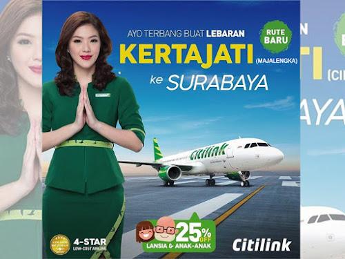 Jadwal Citilink Kertajati - Surabaya