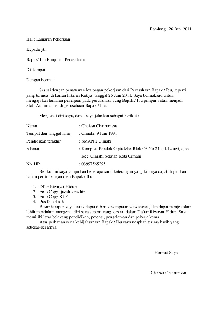 Surat Lamaran Tanpa Posisi : surat, lamaran, tanpa, posisi, Jobs:, Contoh, Surat, Lamaran, Kerja, Tanpa, Mencantumkan, Perusahaan