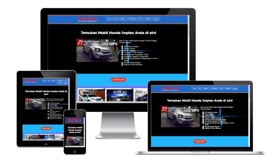 Honda Landing Page Blogspot Builder