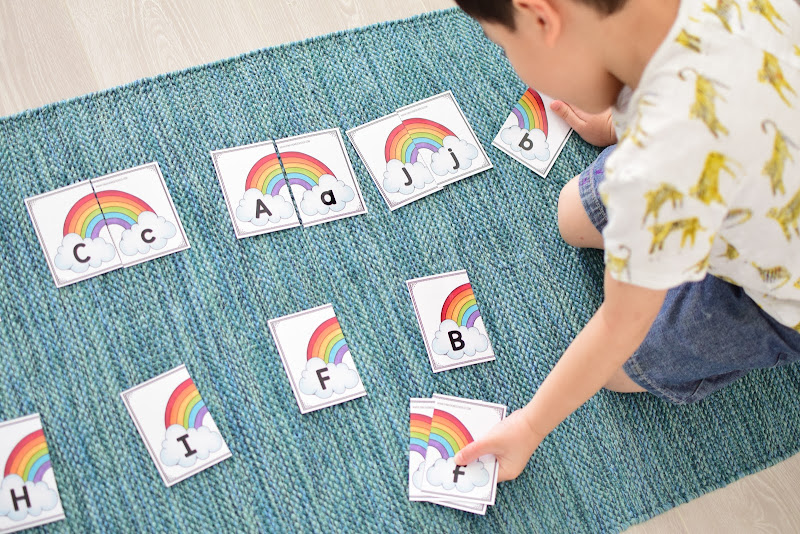 Uppercase and Lowercase Rainbow Match