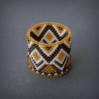 Широкое кольцо из бисера подарок девушке россия симферополь
