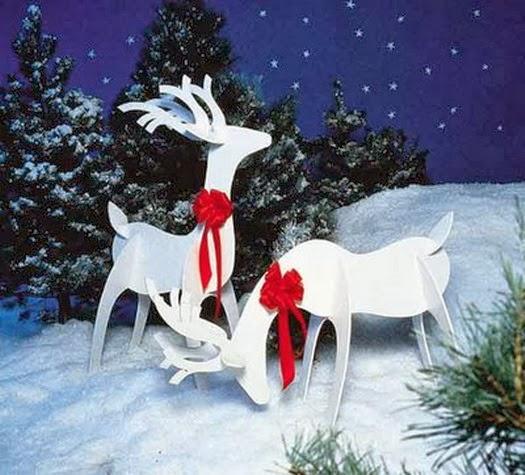 Christmas Deer Decorations Yard: MuyAmeno.com: Decoracion De Fiestas De Navidad