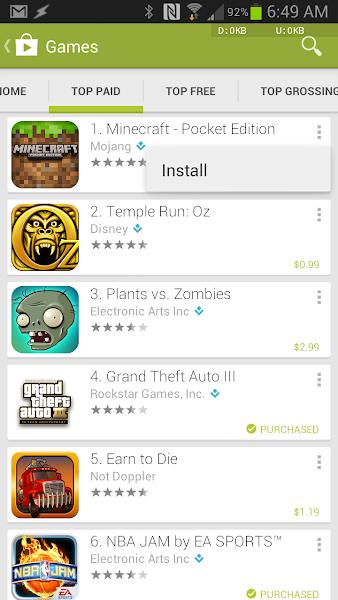Google Play Store 4.0.25