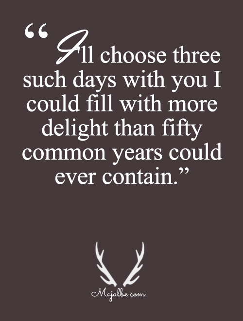 I'll Choose Three Over Fifty