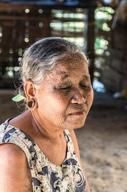 Village de Kainchaung-Rivière Lemro-Birmanie-Myanmar
