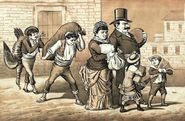 Caricatura publicada en El Motín en diciembre de 1883