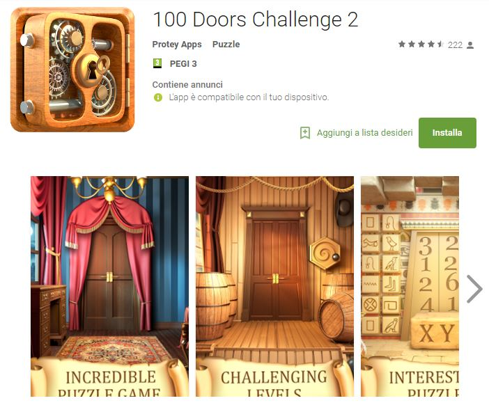 Soluzioni 100 Doors Challenge 2 livello 101 102 103 104 105 106 107 108 109 110 | Trucchi e Walkthrough level