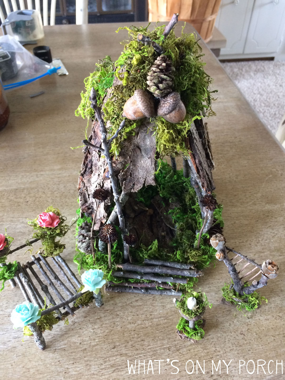 What S On My Porch How To Make A Fairy House With Twigs