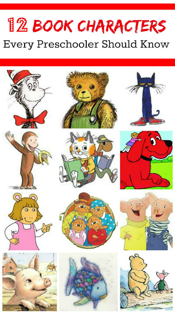 12 favorite book characters for preschool