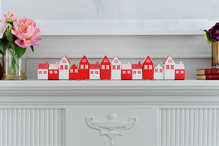 Valentines advent calendar using paper boxes. Valentines themed daily activities