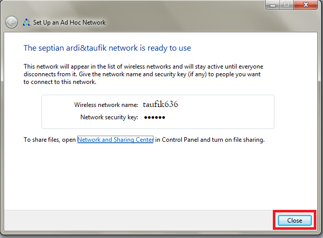 Cara Membuat Jaringan Ad Hoc Windows 7