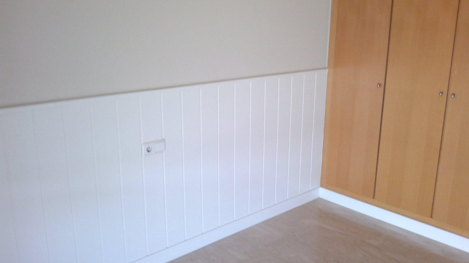 Dormitorio muebles modernos friso blanco for Friso pvc precios