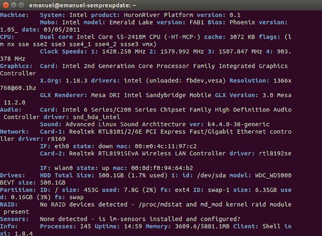 Como instalar o Inxi e obter informações no terminal sobre o sistema Ubuntu, Linux Mint, Debian e derivados!