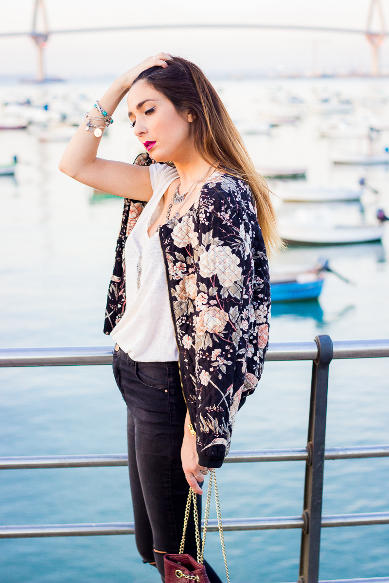 floral and ripped