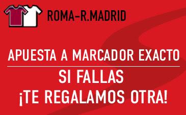 sportium bono 50 euros devolucion champions Roma vs Real Madrid 17 febrero