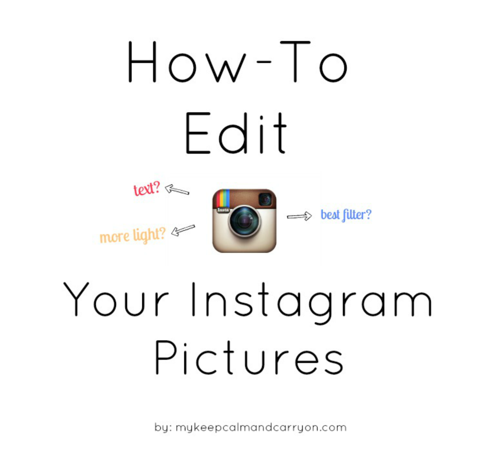 How To Edit Your Instagram Pictures