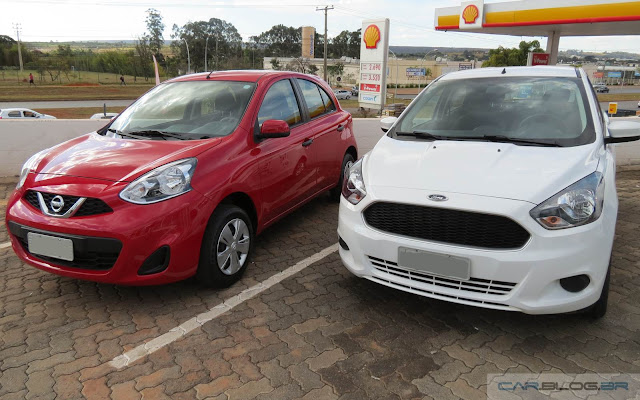 Nissan March 1.0 x Ford Ka SE 1.0 - 2016