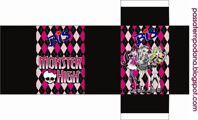 Cajas Monster High Rosa para Imprimir Gratis.