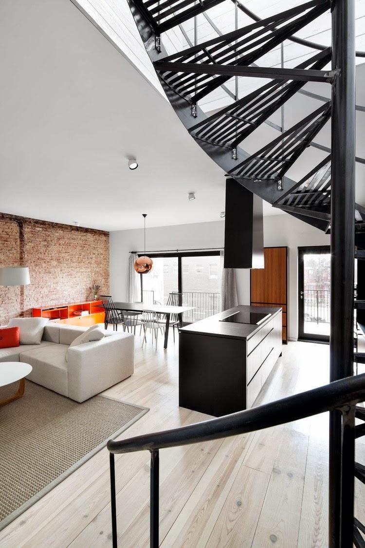 Triplex en blanco y negro emilie b dard y maria rosa di for Revista habitat arquitectura diseno interiorismo