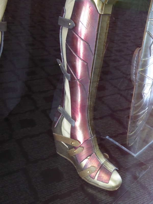 Wonder Woman film costume boot detail