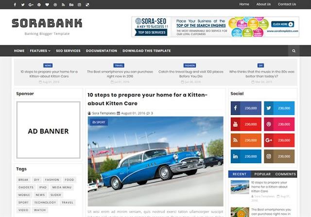 Sora Bank Blogger Theme