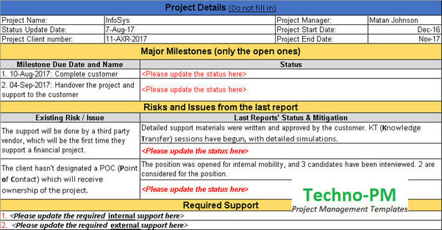 Status Update Request Template