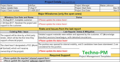 Status Update Request Template