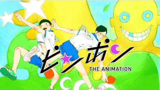 Ping Pong The Animation - Daftar Anime Sport terbaik Sepanjang Masa