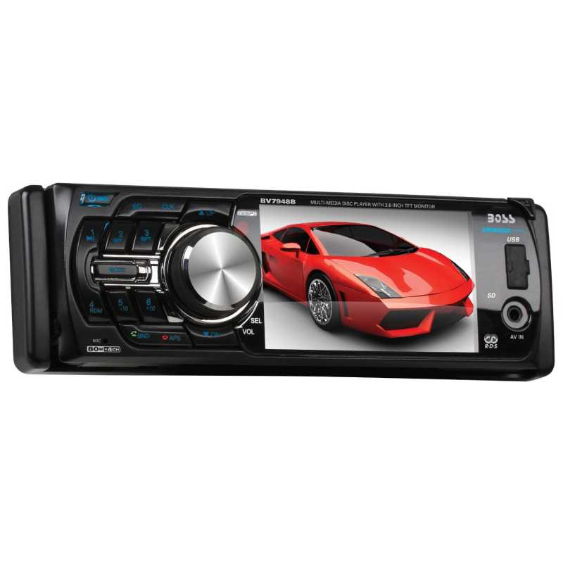 boss audio bv7942 dvd receiver with monitor