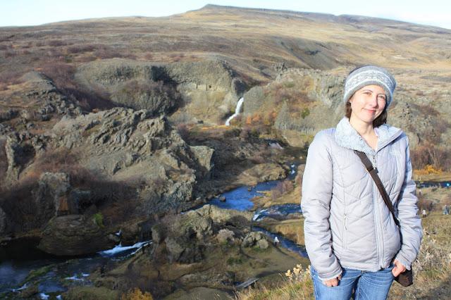 Visiting Gjain in Iceland.
